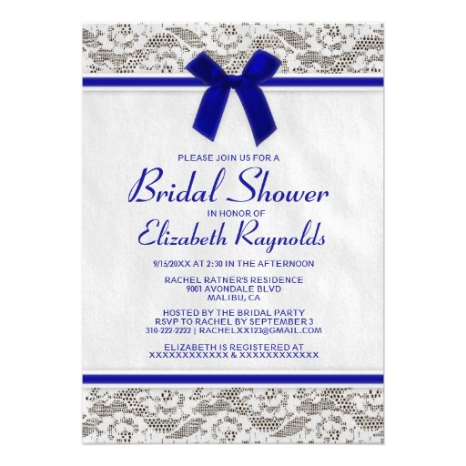Blue And Green Bridal Shower Invitations