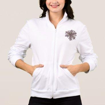 Royal Snowflake Zip-up Jacket