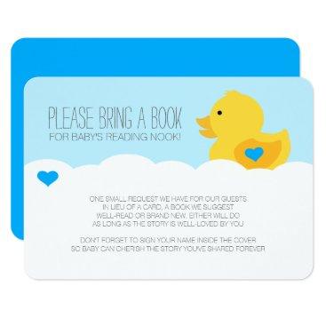 Rubber Ducky Bubble Bath Boy Baby Shower Enclosure Invitation