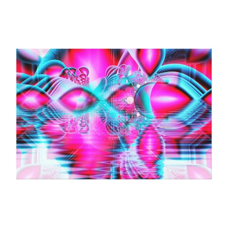 Ruby Red Crystal Palace, Abstract Jewels Canvas Print