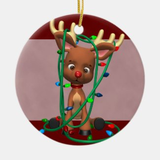 Rudolph the Red Nosed Reindeer Christmas Ornament