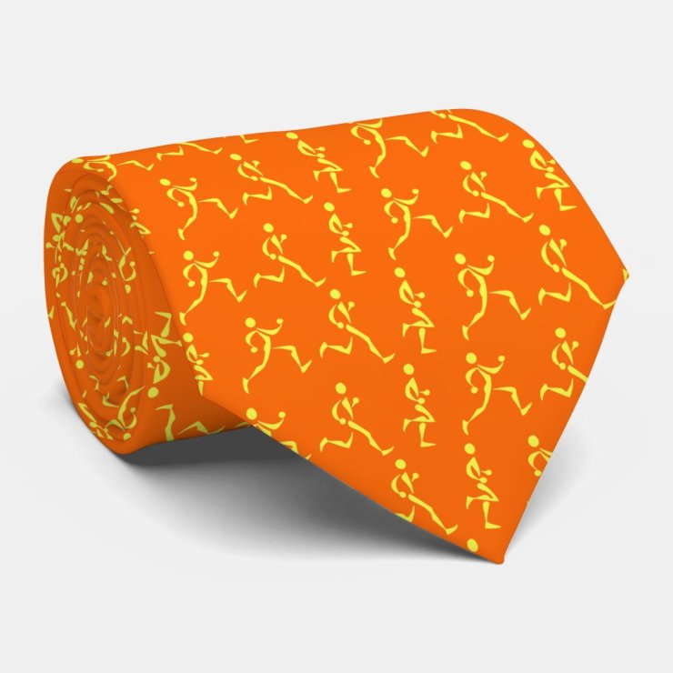 Runner's Tie in Orange
