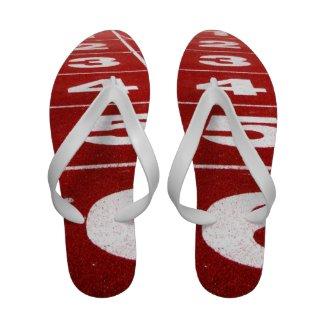 Running Track Flip Flops