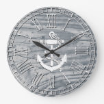 Rustic Anchor Your Color Finish Large Clock