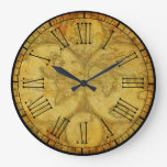 Rustic and Beautiful Vintage Old World Maps Large Clock