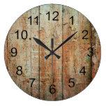 Rustic Beautiful Wood Texture Wall Clock