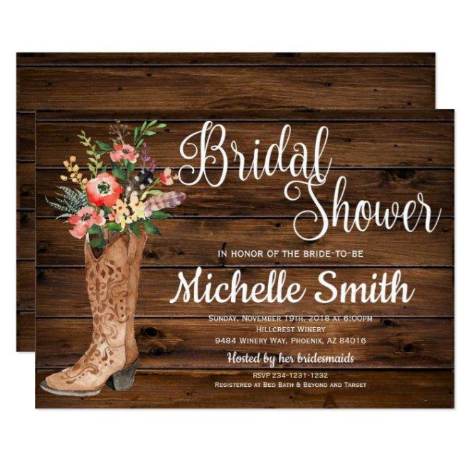 Bridal Western Shower Invitation