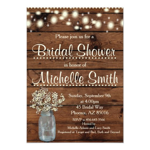 Rustic Couples Wedding Shower Invitations