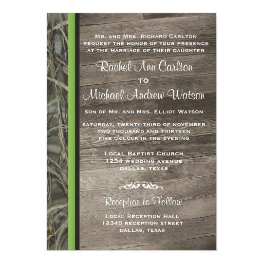 Rustic Camo Wedding Invitations