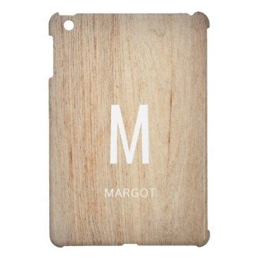 Rustic Chic Modern Monogram Name Custom iPad Mini Cover