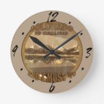 Rustic Colorado is Calling and I must go Round Wall Clocks