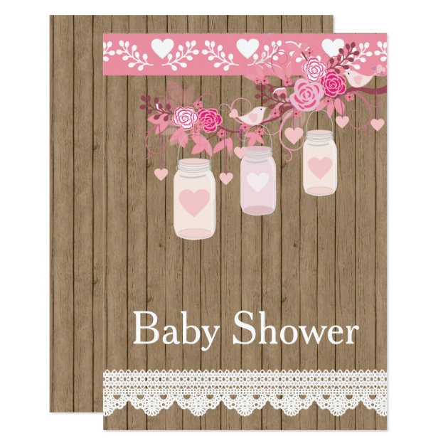 Rustic Country Wood Baby Shower Invitation | Zazzle