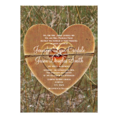 String Lights Hunting Camouflage Themed Wedding Invitations Set