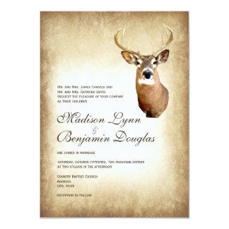 Free Printable Hunting Wedding Greeting Card Template