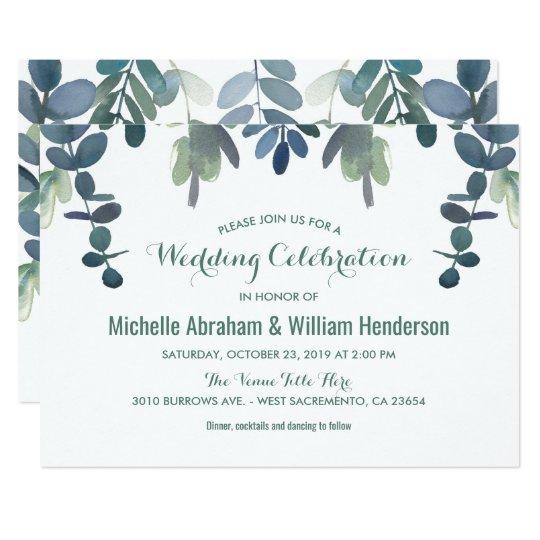 Rustic Eucalyptus Wedding Suite Invite Gum Tree