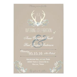 Romantic Red Letterpress Wedding Invitations