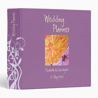 Rustic florals wedding planner 3 ring binder