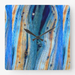 rustic juniper boards square wallclock