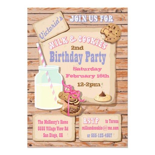personalized milk cookies party invitations custominvitations4u com