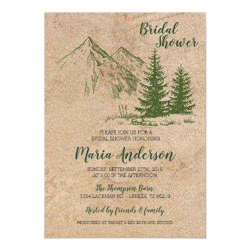 Rustic Mountain Bridal Shower Invitation