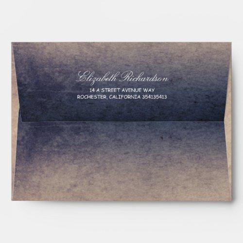 Rustic Navy and Cream Wedding Envelope