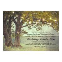 Rustic Oak Tree Romantic Wedding Card