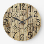 Rustic Personalized Wood One Day at a Time Large Clock