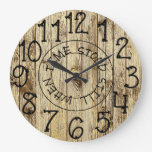 Rustic Personalized Wood When Time Stood Still Large Clock