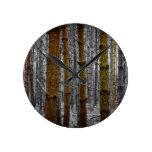 Rustic Pines Round Wallclock