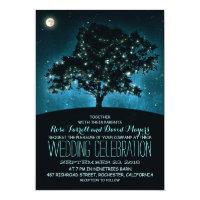 Rustic String Lights Tree Wedding Invitation