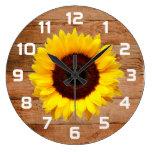 Rustic Sunflower Wall Decor Clocks
