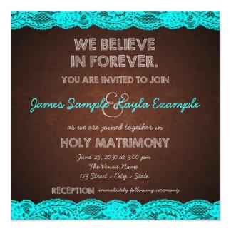 Blue Brown Wedding Invitation Kit Jordana Stream Diy Printable Templates