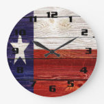 Rustic Texas Flag Wallclock