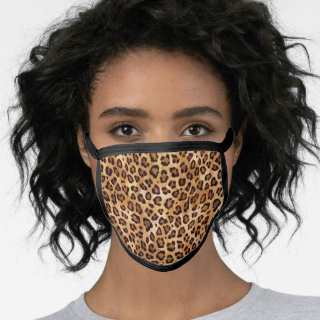 Rustic Texture Leopard Print Spots Stylish Fashion Face Mask