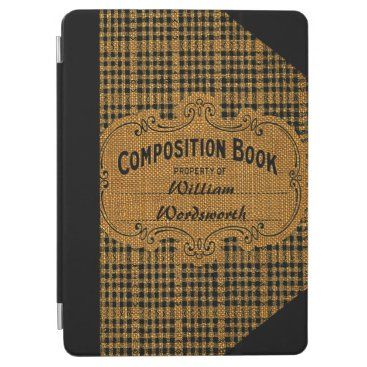 Rustic Vintage Composition Book iPad Air Cover