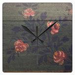 Rustic vintage flowers clocks