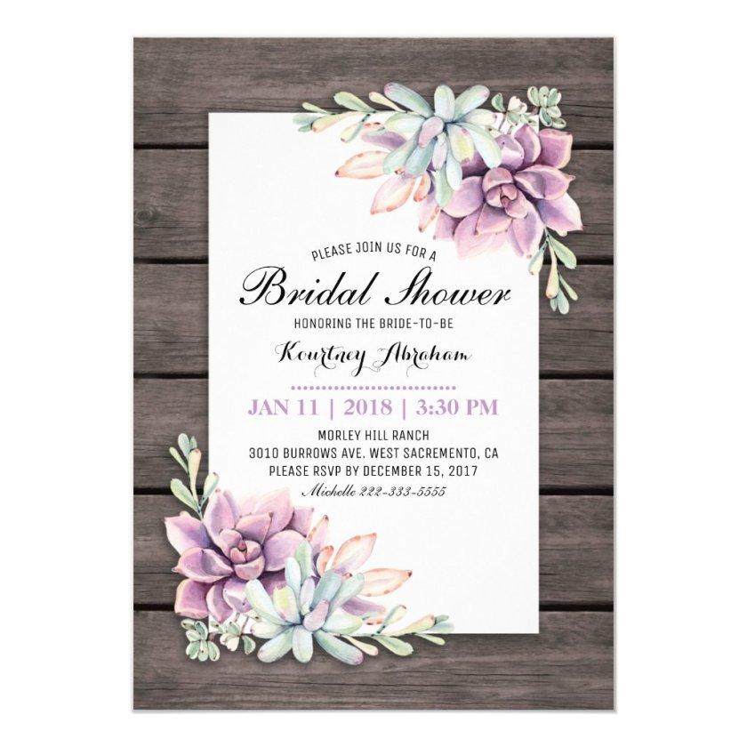 Rustic Bridal Shower Invitation Mason Jar Fl Card