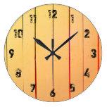 Rustic Wood Planks Large Clock