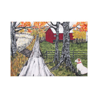 Sadie The Farm Dog Canvas Print
