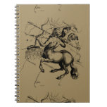 Sagittarius Constellation Map Engraving Hevelius Notebook
