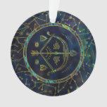 Sagittarius Zodiac Gold Abalone on Constellation Ornament