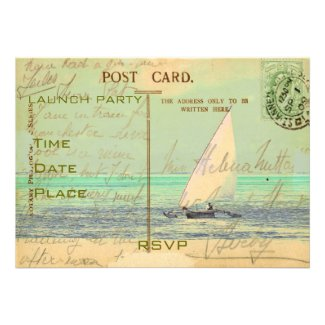 Sail Away Custom Invitation