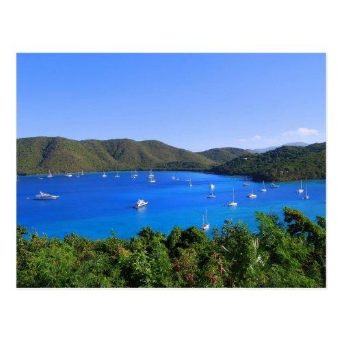 Sailboats, Maho Bay, St. John, U.S.V.I. Postcard