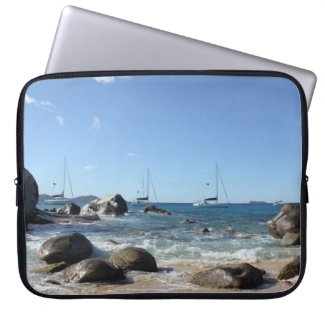 Sailing Boats at the Baths, BVI Laptop Computer Sleeve