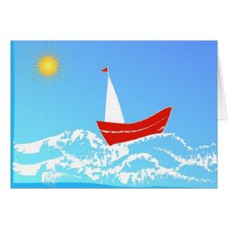 Sailing Greeting Cards