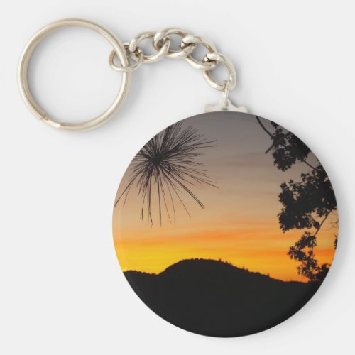 San Bernardino Mountains Sunset Key Chain