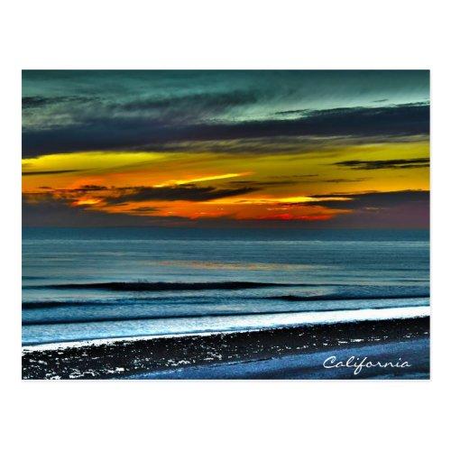 San Diego Winter Sunset Postcard