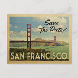 San Francisco Save The Date Vintage Postcards