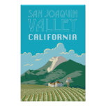 San Joaquin Valley California Travel Poster