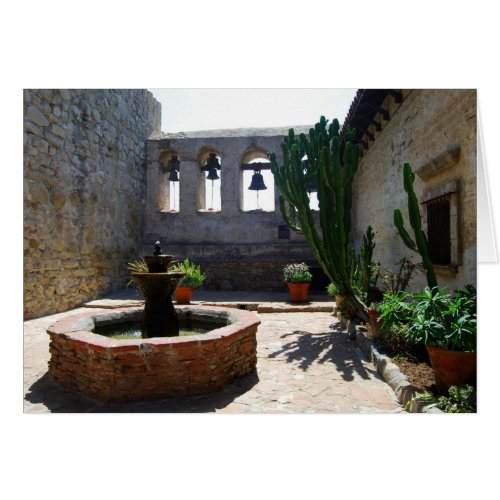 San Juan Capistrano Mission Courtyard Greeting Card
